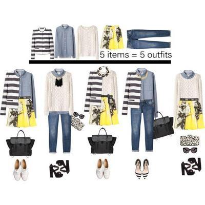 Kombinasi Style Hijab Warna Kuning dan Monochrome