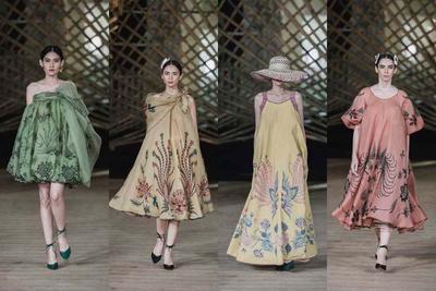 5. Long Dress Batik