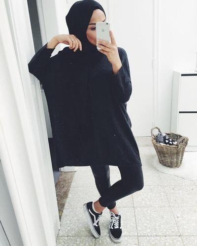 Kombinasi Legging dan Oversized Sweater