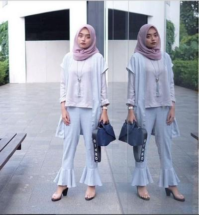 Nabila Hatifa in White Cutbray