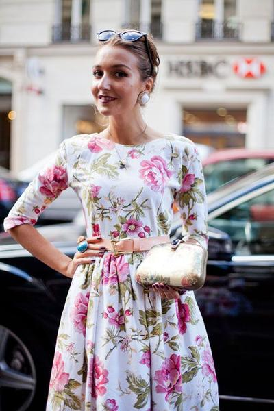 4. Floral Dress with Jewellery