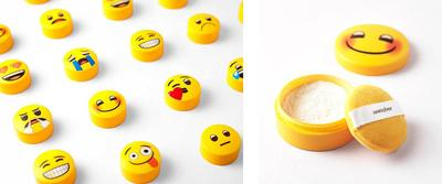 Tekstur Innisfree x Emoji TM No Sebum Mineral Powder