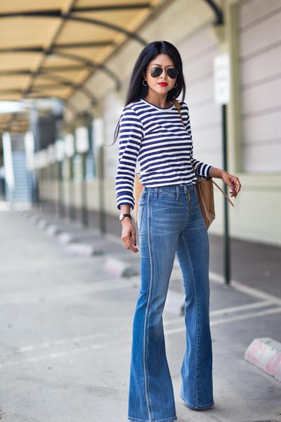 Celana Cutbray + Striped T-Shirt