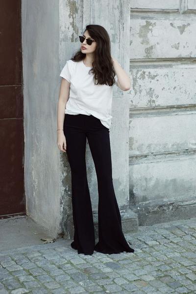 Celana Cutbray + Basic T-Shirt