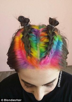 Confetti Hair Style, Tren Rambut Seru Penuh Warna di Tahun 2017
