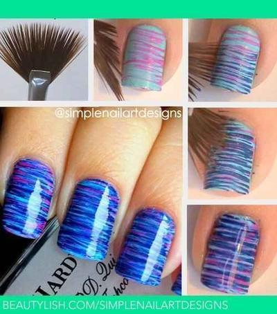 2. Gunakan Brush untuk Desain Stripes