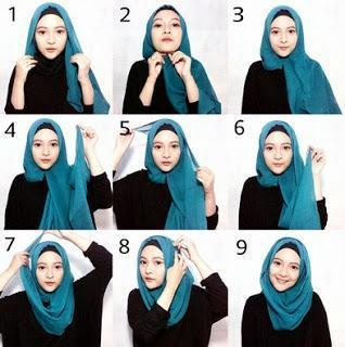 3. Tutorial Hijab Segi Empat Praktis