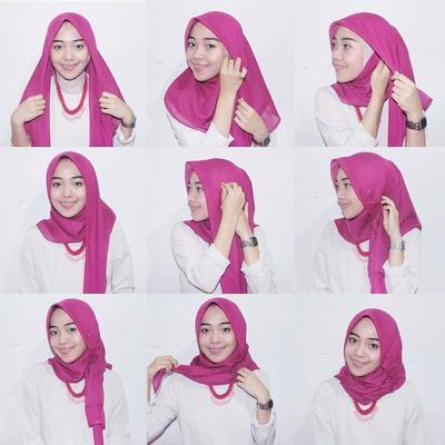 4. Tutorial Hijab Segi Empat Casual