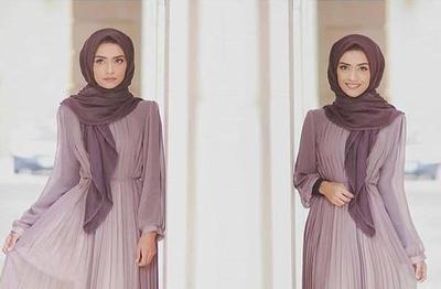 Yuk, Contek Tips Padu Padan Warna Hijab Ungu untuk Style yang Elegan