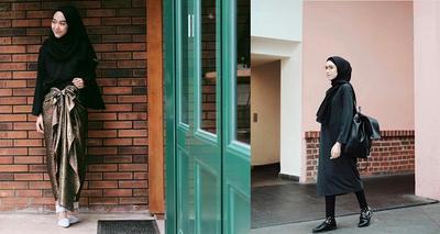 5 Paduan Outfit Kasual Hingga Formal yang Pas untuk Hijab Warna Hitam
