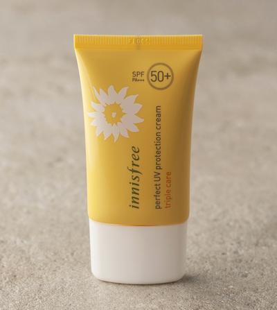 Review:  Innisfree Perfect UV Protection Cream Triple Care, Sunblock Terbaik dengan SPF 50