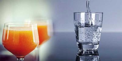 Mengonsumsi Air Putih & Jus
