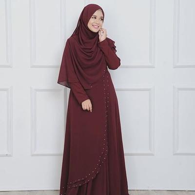 Hijab Syar'i dengan Dress A Line