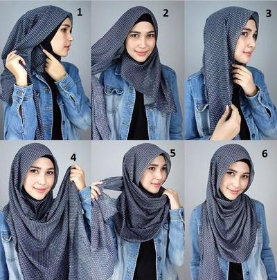 2. Hijab Memutar