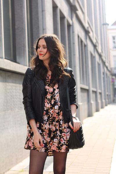3. Floral Dress with Jacket