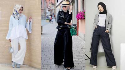 Tips Padu Padan Celana Palazzo untuk Hijabers Agar Penampilan Makin Fashionable