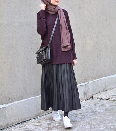 Drapped Skirt and Oversized Shirt