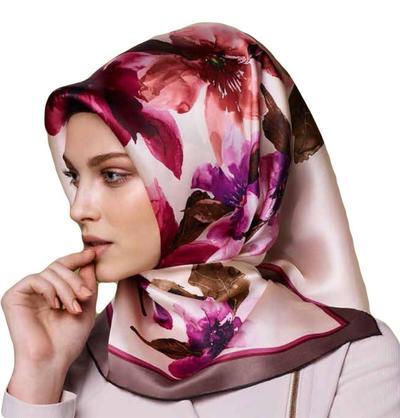 1. Flower Print hijab