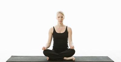 1. Easy Pose (Sukhasana)