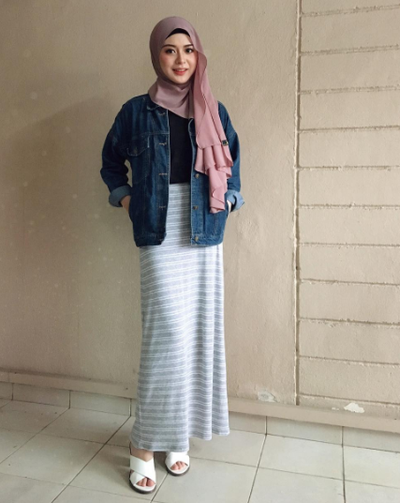 Yuk Tampil Feminim Dan Manis Dengan Padu Padan Rok Hijab Kekinian Ala Selebgram Korea Muslim