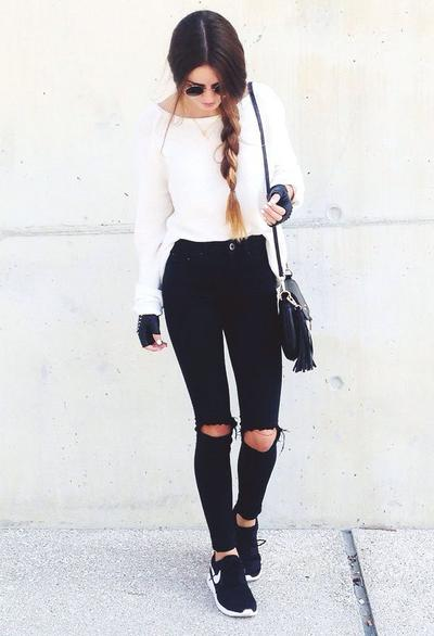 Ripped Jeans and Nike