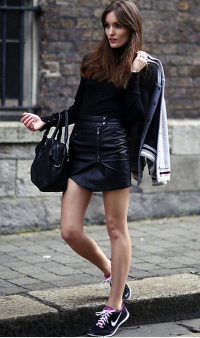 Skirt and Nike