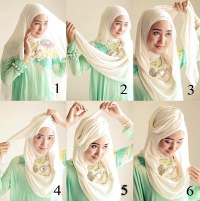 4. Drapery hijab