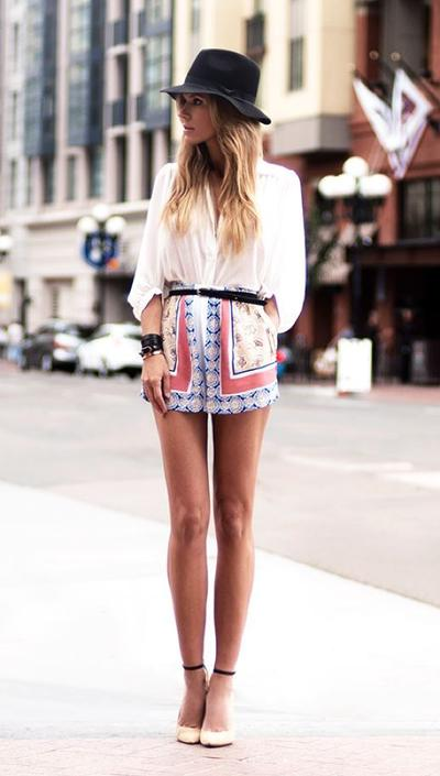 Patterned Skirt or Pants