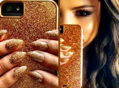 Nail Art Matching Milik Selena Gomez
