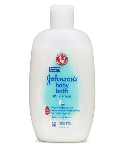 1. Johnson's Baby Bath Milk and Rice