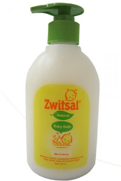 3. Zwitsal Natural Baby Bath Milk and Honey