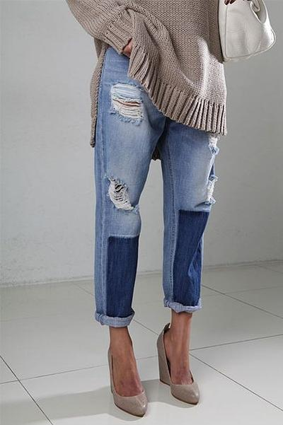 Inspirasi Patched Jeans