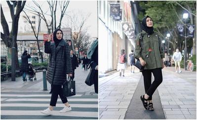 Tetap Nyaman dan Fashionable, Ini Inspirasi Style Hijab Keluar Negeri yang Wajib Kamu Tiru!
