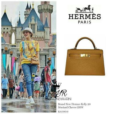 Hermès Kelly 20 Mustard Chevre GHW
