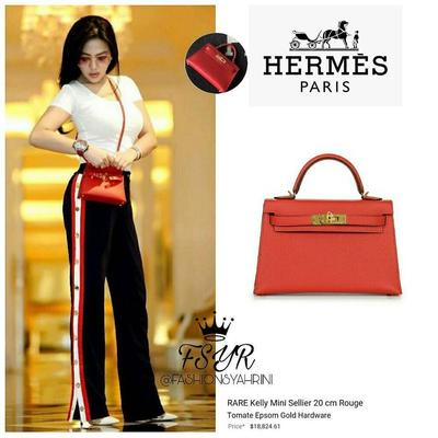 Hermès Kelly Mini Sellier 20cm Rouge Tomate Epsom GHW