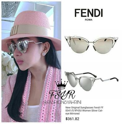Fendi Women's Silver Cat Eye Mirrored
