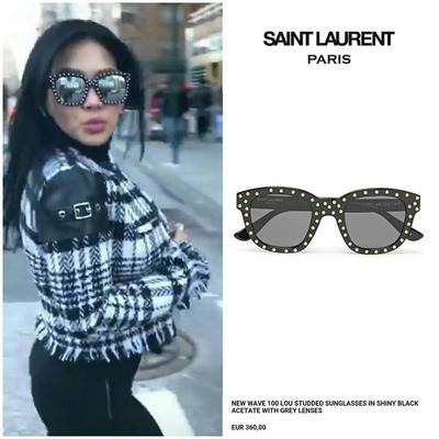 Saint Laurent 100 Lou Studded Sunglasses
