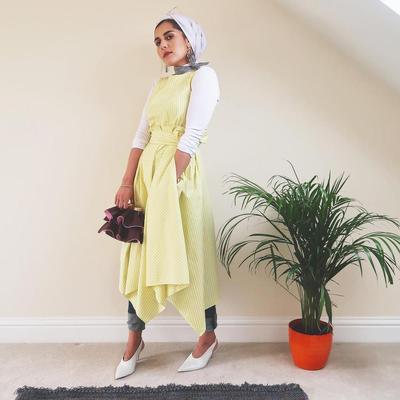 Turban Hijab dengan Dress