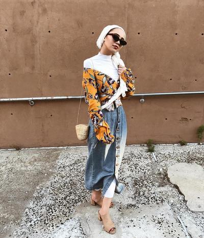 Turban Hijab With Printed Top