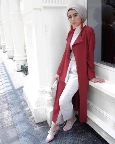 Turban Hijab dengan Long Outer