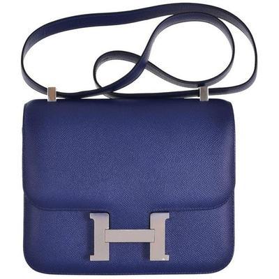 Hermes Constance Bag 24cm Double Gusset Sapphire Epsom