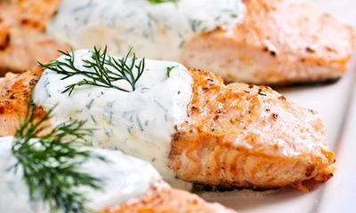 Nasi Merah dan Salmon Panggang