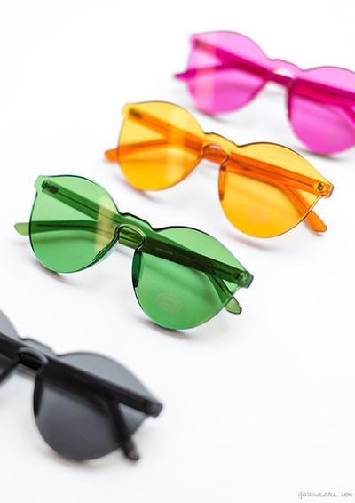 Colorful Transparent Sunglasses