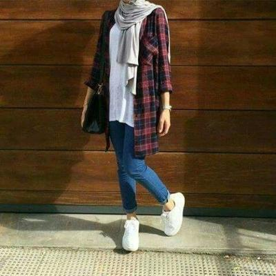 Pair Jeans with Oversized Shirt