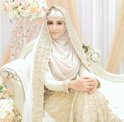 Hijab Pengantin ala Timur Tengah