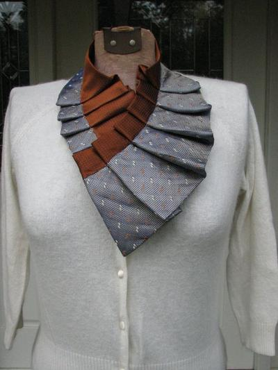 1. Silk Necktie Collar
