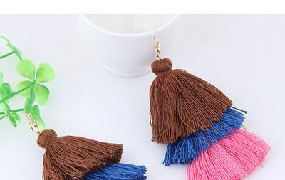 Alloy and Rope Pure Color Earrings