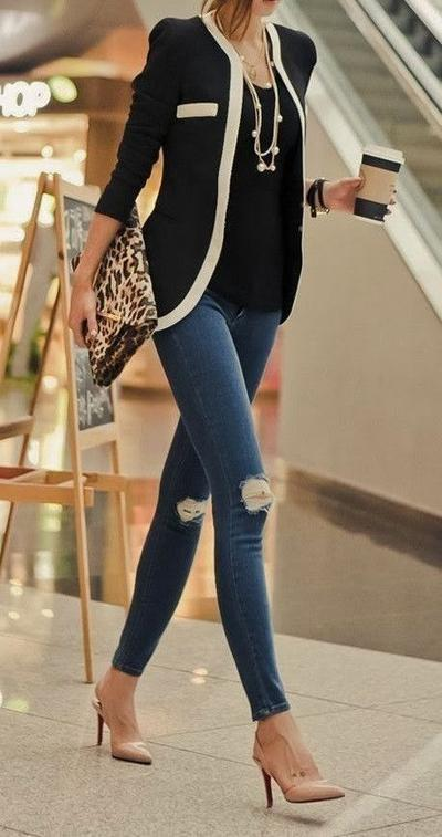 Cardigan & Jeans