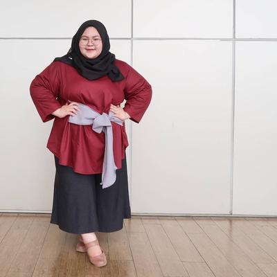 Jangan Ragu, Begini Cara Padu Padan dengan Celana Kulot untuk Hijabers Bertubuh Gemuk!