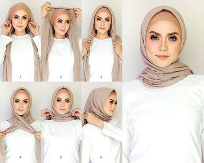 Basic Square Hijab Style with Knitted Inner